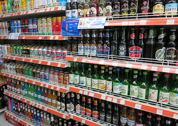 Angkor Mart beer selection Phnom Penh