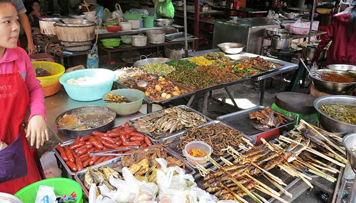 Local Cambodian food market