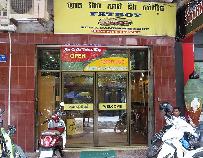 Fatboy submarine sandwich shop Phnom Penh