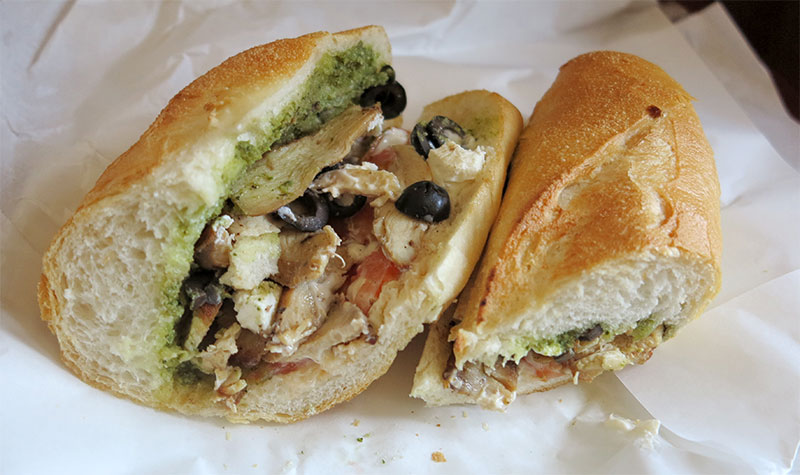 Joma pesto chicken sandwich in Phnom Penh Cambodia