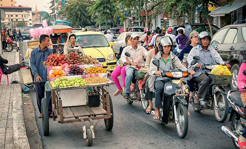 Phnom Penh Cambodia street scene
