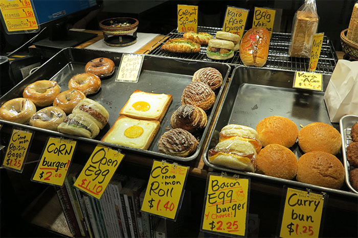 Japanese bakery items in Phnom Penh
