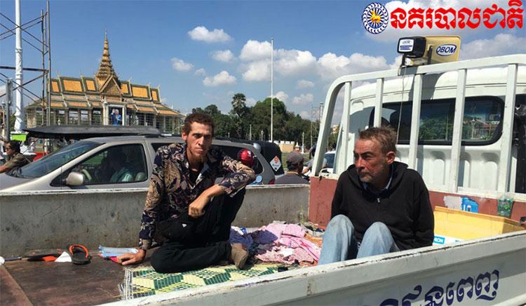 Homeless English teachers arrested Phnom Penh