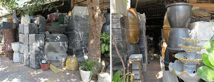Chhor Vy plant pots in Cambodia