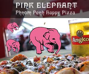 Pink Elephant Phnom Penh happy pizza